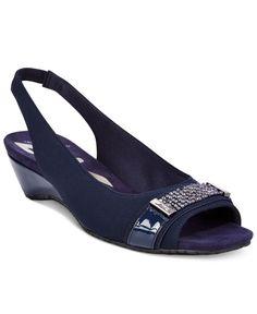 Anne Klein Harmonia Wedge Sandals | macys.com