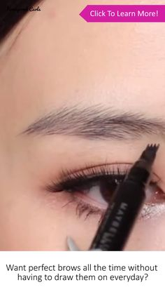 Want natural looking brows without the maintenance? These Waterproof Microblading Eyebrow Pens let you effortlessly draw on your eyebrows and thanks to the unique ends, you can draw on individual hairs for the most natural look! It then dries on your…Read Eyebrow Makeup Tips, Eyebrow Pencil, Makeup Eyebrows, Draw On Eyebrows, Basic Makeup, Makeup Dupes, Makeup Products, Natural Eyebrows, Natural Makeup