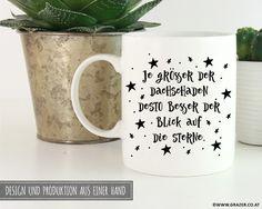 Becher & Tassen - Tasse   Je größer der Dachschaden  - ein Designerstück von Dr_Grazer_und_Co bei DaWanda Etsy, Mugs, Tableware, Design, Tumbler Cups, Dinnerware, Tumblers, Tablewares, Mug