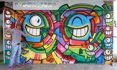 Graffiti Artist Pez from Barcelona, Spain Visits Bogotá, Colombia