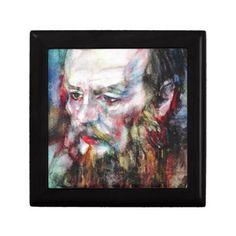 FYODOR DOSTOYEVSKY - watercolor portrait.2 Keepsake Box - home gifts cool custom diy cyo