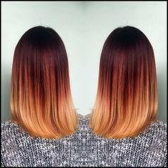 18 auffällige rote Ombre Hair Ideen #auffallige #ideen #ombre