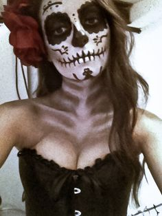 Day Of The Dead Face Makeup - Halloween
