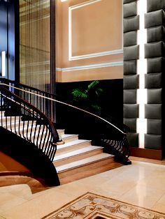 the padded wall is nice - carlton hotel lobby