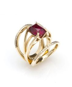 Other stone options, um OK, that's amazing. :: Garnet Bliss Ring, Bliss Lau :: #ring #blisslau #garnet