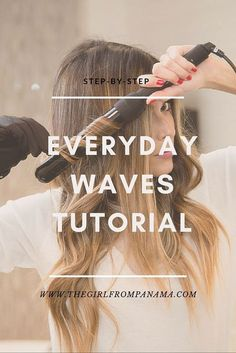 Waves Easy step-by-step everyday waves tutorial.Easy step-by-step everyday waves tutorial.Everyday Waves Easy step-by-step everyday waves tutorial.Easy step-by-step everyday waves tutorial. Wavy Hairstyles Tutorial, Curled Hairstyles, Curling Wand Hairstyles, Wavy Hair Tutorials, Trendy Hairstyles, Gorgeous Hairstyles, Beauty Tutorials, Everyday Hairstyles, African Hairstyles