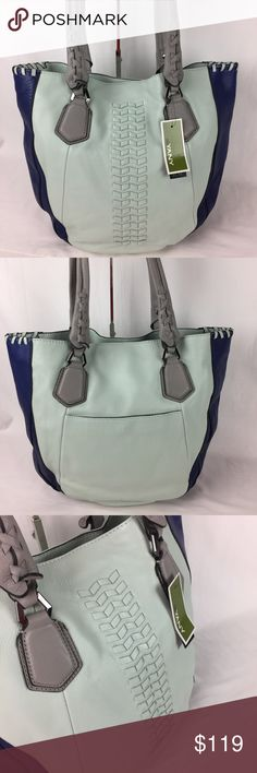 "orYANY Lyssie Soft Pebbled Leather ColorBlock Tote Condition: New  Bright and bold, this luxe leather tote from orYANY makes an impression. With a trend-right color-block design on a classic tote silhouette, it brings fresh style to any outfit.  Soft pebble leather; tote silhouette; color-block design; double shoulder straps; gunmetal hardware; hidden magnetic snap closure; woven details; whipstitching; back snap pocket 17""W x 15""H x 3""D with an 11"" strap drop     Thank you for your…"