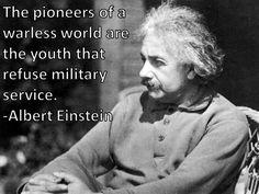Albert Einstein on Military Service   ~ Interesting!