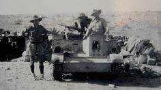 Aussie Bren gun carrier crew at Tobruk.