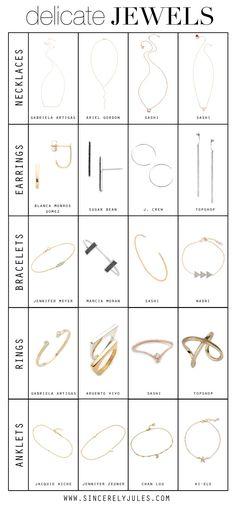 Delicate jewelery