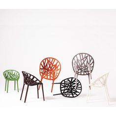 These would be cool patio chairs. Too bad they're SO expensive!    Vitra Vegetal Chair by Ronan and Erwan Bouroullec