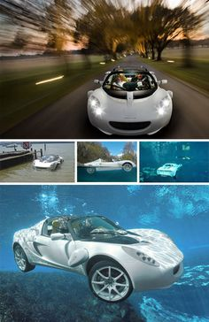 Rinspeed's sQuba is a bit of James Bond come to life – a car that can successfully cruise underwater. The catch: it is not a self-contained submarine – you still have to wear scuba gear if you want to breath while speeding along in submerged mode. Electric motors to replace the conventional combustion engine were, of course, a must.