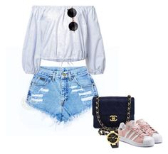 Night out with the girls by puneh-kuchak-1 on Polyvore featuring polyvore, Sea, New York, adidas Originals, Chanel, Gucci, fashion, style and clothing