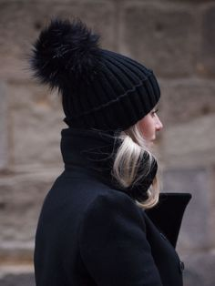 furry pom topped beanie #style #fashion #hat