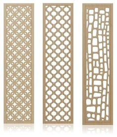 """Crestview Doors introduces 6 decorative, midcentury-style wall screens / room dividers    Read more: Decorative wall screens -- 6 mid century styles -- """"Redi-Screens"""" from Crestview — Retro Renovation"""