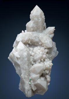 Milky candle and Artichoke Quartz crystals / Serra da Estrela, Portugal