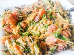 Stampot zoete aardappel,  wortel, paarse mosterd, chorizo