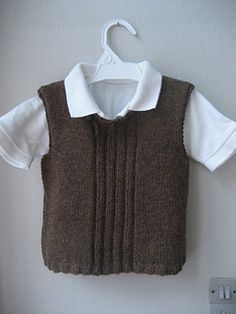 Discover thousands of images about Ravelry: Woollahoo's Vest med rib Baby Sweater Knitting Pattern, Knit Vest Pattern, Baby Knitting Patterns, Ärmelloser Pullover, Toddler Vest, Big Knits, Baby Cardigan, Knitting For Kids, Baby Sweaters