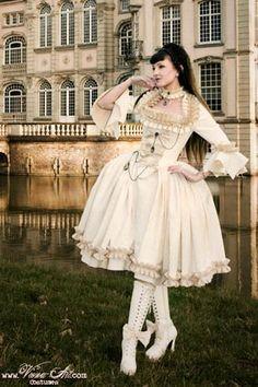 victorian white short dress