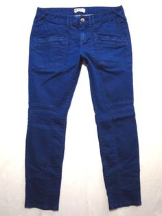Free People size 31 x 29 Moto Skinny leg Cobalt blue Low rise waist Womens jeans #FreePeople #SlimSkinny