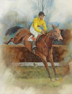 ARKLE and PAT TAAFFE PRINT Limited Edition Horse Racing Print by Equestrian Artist Michael Heslop