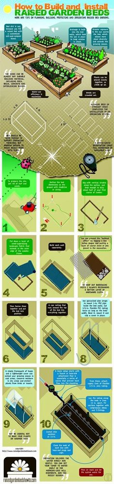 DIY how to build your own raised garden beds. #Gardening