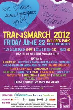 Trans March 2012 Flyer, Back
