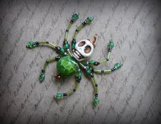 Your place to buy and sell all things handmade Christmas Spider, Halloween Spider, Diy Halloween Decorations, Halloween Crafts, Beaded Skull, Beaded Dragonfly, Jewelry Art, Beaded Jewelry, Jewellery