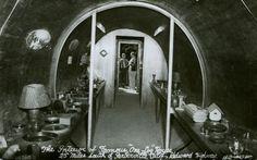 """The Interior Of The Famous """"One Log"""" House, Redwood…"""