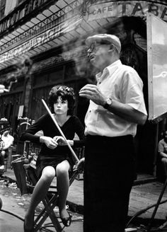 Shirley MacLaine and director Billy Wilder on set of Irma La Douce, by Leo Fuchs, Movie Photo, I Movie, Movie Stars, Leo, Classic Hollywood, Old Hollywood, Billy Wilder, Shirley Maclaine, Actor Studio