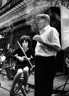 "Billy Wilder and Shirley MacLaine ""Irma La Douce"" | Paris © Leo Fuchs 1963"
