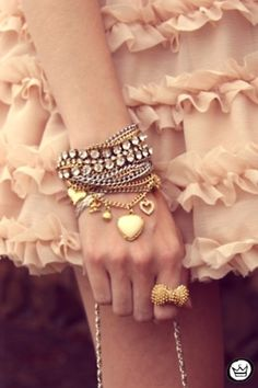 Adore the bracalets and the bow ring!