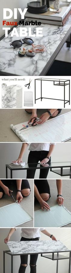 You'll need: – Marble Contact Paper – Scissors – Small hand towel – Ikea Vittsjo or any table or surface you would like to marbleize More info and instructions about this great tutorial you can find in the source url - above the photo. diycraftstips.org is a collection of the best and most creative do […]