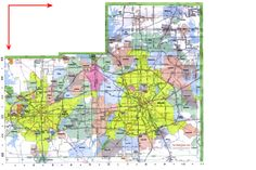 Metropolitan Map of Dallas and Fort Worth. Includes highways, roads, towns and county divisions. Texas Usa, Dallas Texas, Fort Worth Map, Theme Park Map, Tarrant County, Campus Map, Dallas County, Tourist Map, Area Map