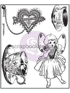 Butterfly - Tea Cups Clear Stamps
