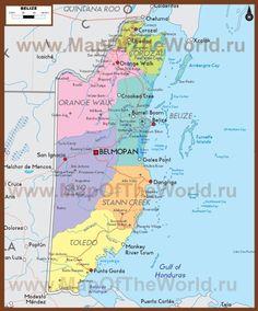 Политическая карта Белиза