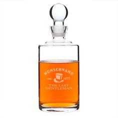 Originelle Geschenkideen - Gravierte Whisky-Karaffe Gentleman