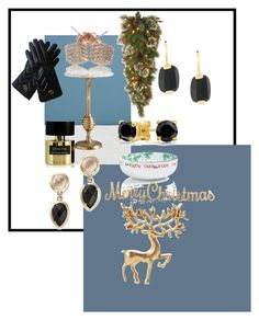 """Happy presents"" by suusbelle on Polyvore featuring Anthropologie, National Tree Company, The Cellar, Tiziana Terenzi, Bloomingdale's, Bling Jewelry, Wouters & Hendrix en Gucci"