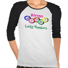 Fun tee shirt top for a bingo caller or bingo player, colorful bingo balls which you can customize with your personal lucky numbers, perhaps it will bring you some luck on Bingo night. Great gift idea for anyone who loves to play bingo. #bingo #bingo-balls #colorful #fun #funny #lucky-numbers #your-lucky-numbers #lucky-bingo-numbers #bingo-lovers #lucky #bingo-wear #bingo-tops #bingo-games #fun-leisure-activities #bingo-game #bright #hobbies #gaming #bingo-night #balls #bingo-gifts
