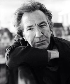 1997 - This is a photo of Alan Rickman taken during a photo-shoot Alan had with David Harrison.