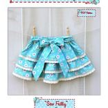 SEW FRILLY Skirt Pattern - New Easy Circle Flounce Design - PDF Sewing Pattern  by Foot Loose & Fancy Free Patterns