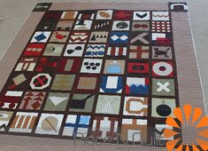 Hobo Quilt - each block represents a code from the hobo code - via Piece N Quilt Hobo Code, Bring It To Me, Line Patterns, Free Motion Quilting, Quilt Top, Machine Quilting, Sewing Tutorials, Quilt Blocks, Really Cool Stuff