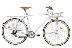 Vélo FabricBike City Classic blanc mat 7V - Vélo de ville Velo Vintage, Classic, Fabric, Veils, Retro Bicycle, Urban Bike, White People, Tejido