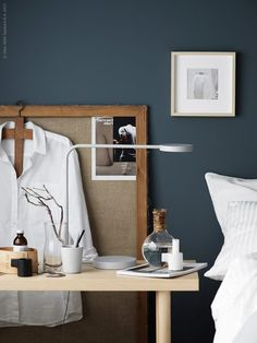 YPPERLIG LED bordslampa, YPPERLIG värmeljushållare, HOVSTA ram, STOCKHOLM 2017 soffbord askfanér.