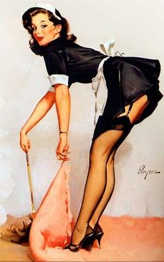 "Gil Elvgren - ""Cover Girl"" (Clean Sweep) 1963 [530]"
