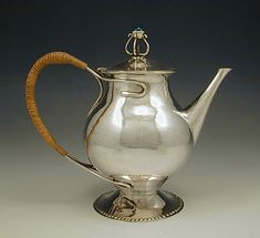 CHARLES ROBERT ASHBEE GUILD OF HANDICRAFT SILVER TEAPOT
