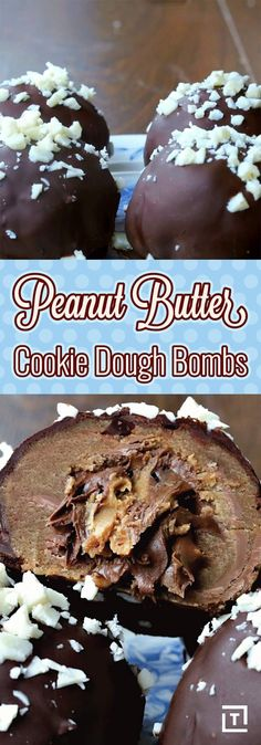 Indulge Your Tastebuds With These Peanut Butter Cookie Dough Bombs