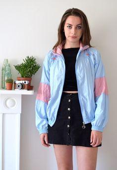 80s Vintage Diadora Pastel Shell Jacket | Ica Vintage | ASOS Marketplace
