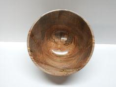 Handmade woodturning. Ambrosia Maple bowl - interior view