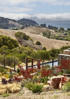 This transformative garden makes this incredible view visable     Arterra Landscape Architects
